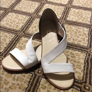 Yosi Samra white & black sandals
